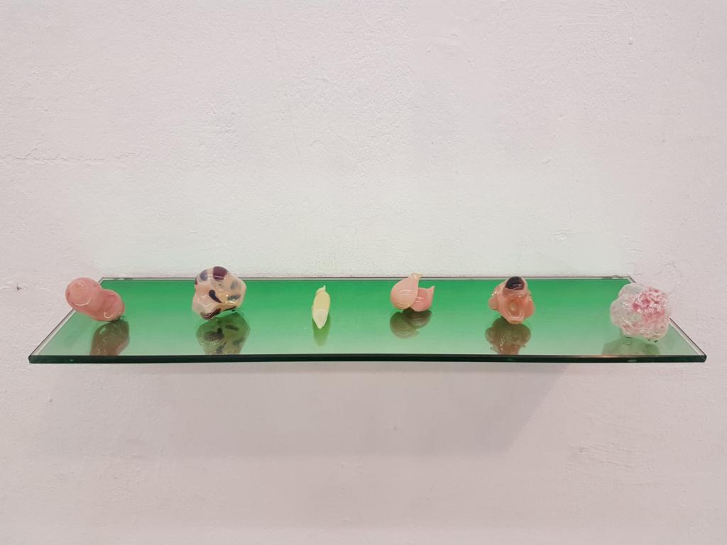 La vie des Formes - vidrio soplado y polarizado - 10 x 10 x 30 cm - 2019
